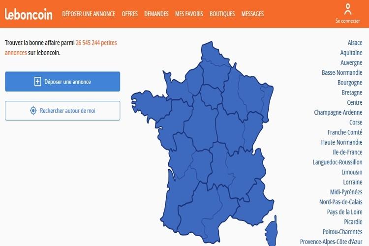 Доска объявлений Leboncoin, Франция